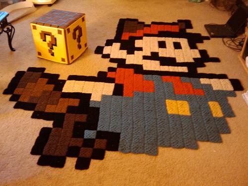Der Ultimative 8 Bit Mario Teppich I Know Your Game Ikyg