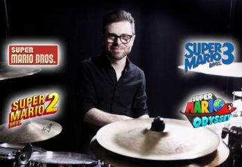 Vadrum - Mario-Soundtracks auf dem Schlagzeug