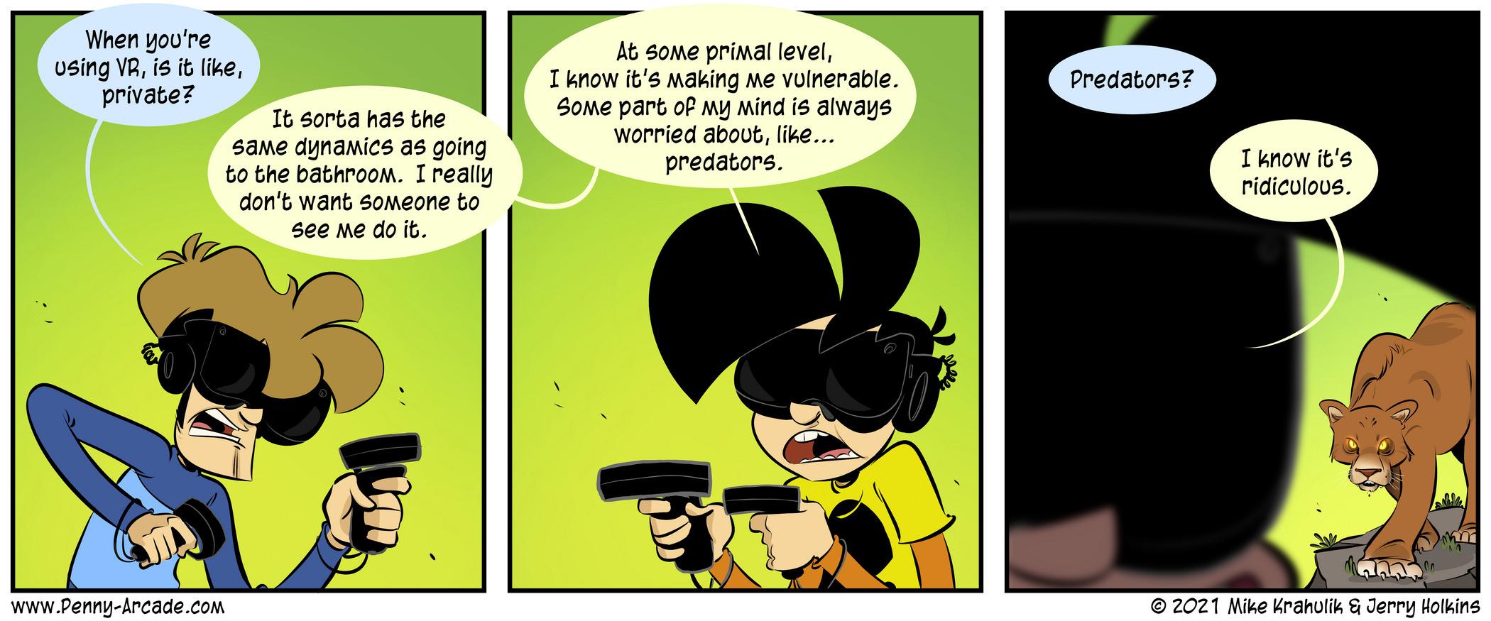 VR-Gefahren-Comics