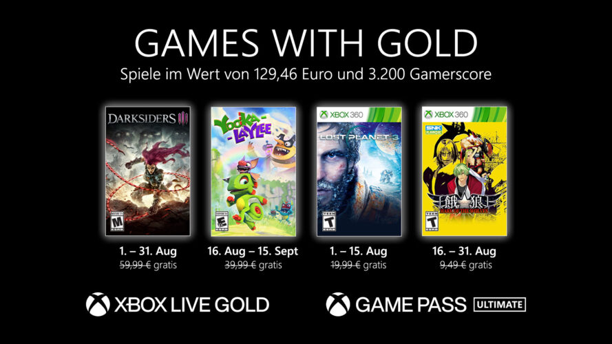 Games with Gold August 2021